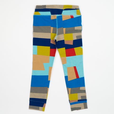 Kid's Mini Mantra Legging in Blocked Print