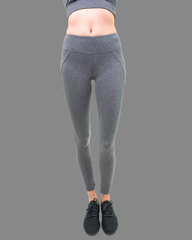 Mantra Legging in Dark Heather Grey