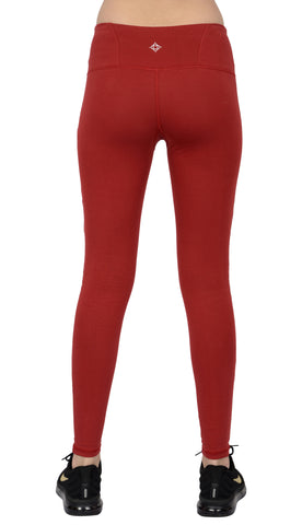 Tashi Legging-Cotton Burgandy