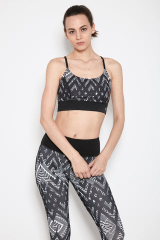 Vista Bra in Black Print