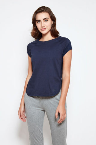 Pav Tee in Dark Indigo