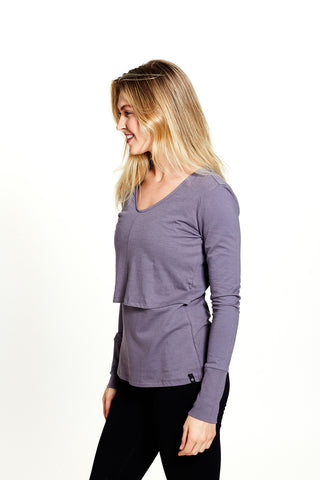 Tina Pullover in Purple