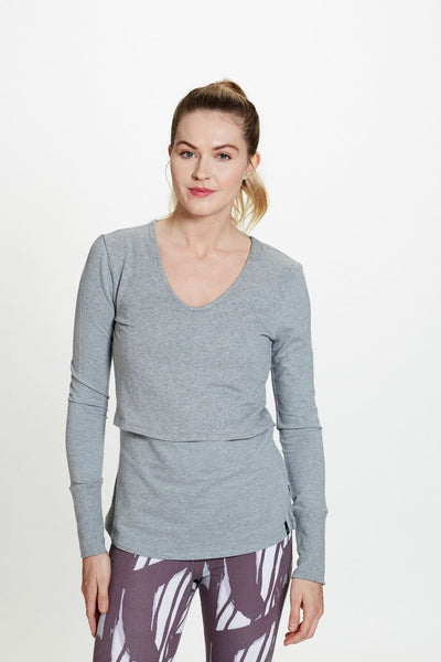 Tina Pullover in Gray