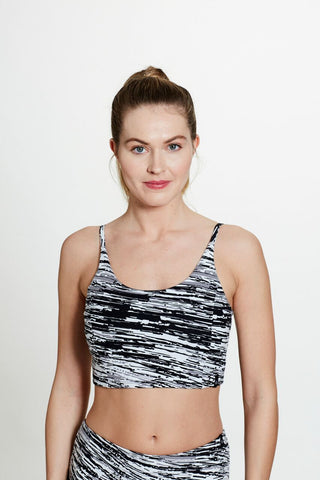 Bani Bralette in Scratch Print
