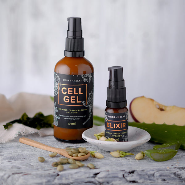 Image of our organic cell gel & elixir