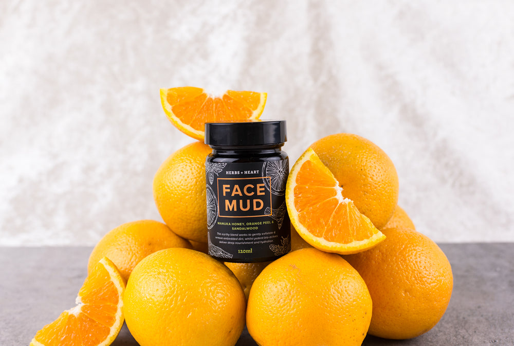 Image of our mud face with certified organic ingredients