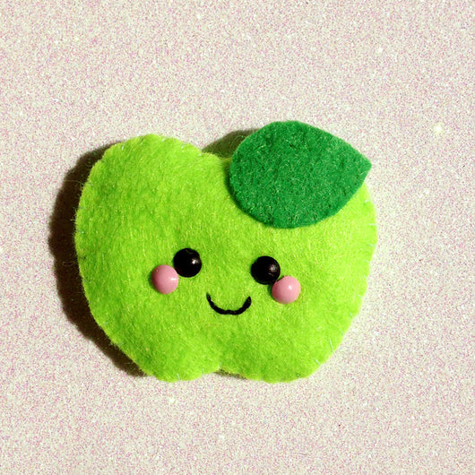 Apple A Day Felt Accessory - Green