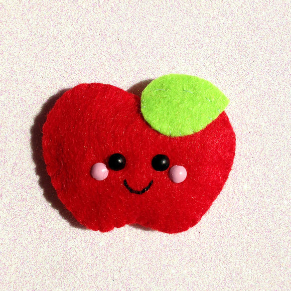 Apple A Day Felt Accessory - Red