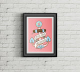 Adorable Anchor A3 Print