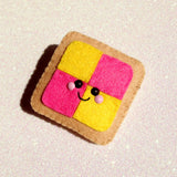 Bashful Battenberg Cake Felt Accessory