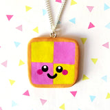Battenberg Cake Necklace