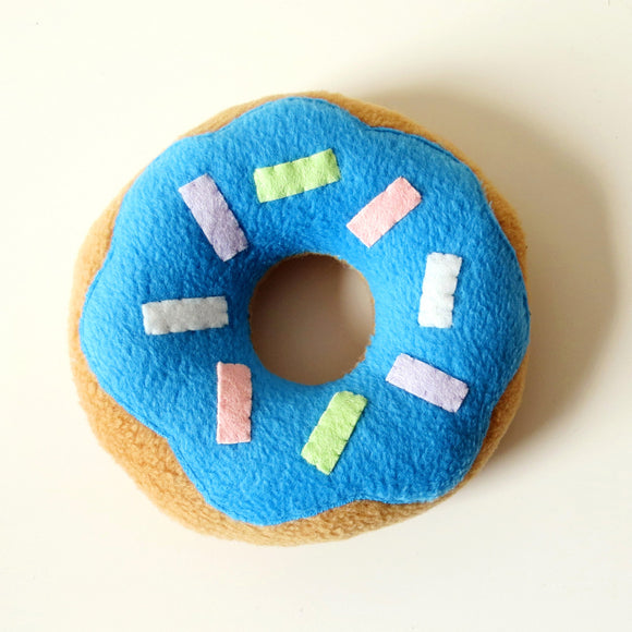 Limited Edition Donut Plush Cushion - Blue