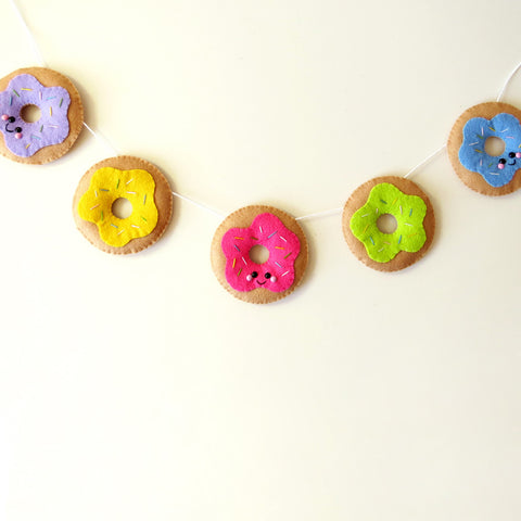 Delicious Donut Felt Garland - Bright