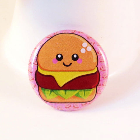 Cheesy Cheeseburger Pin Badge