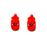 Sauce Bottle Stud Earrings