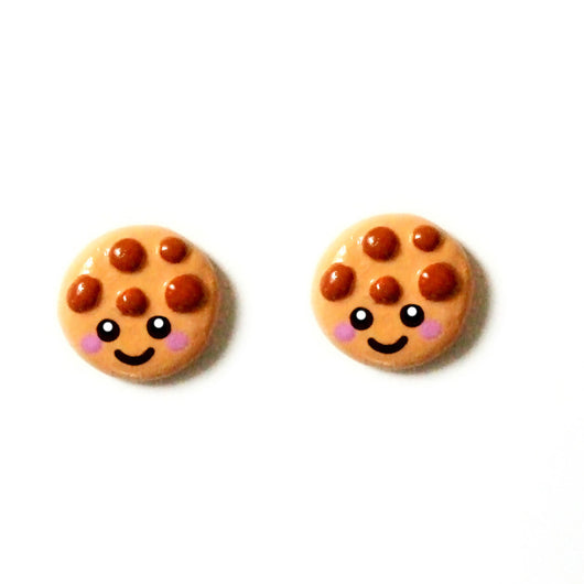 Cute Cookie Stud Earrings - Happy