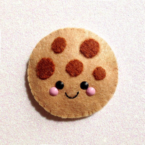 Cute Cookie Felt Accessory - Happy