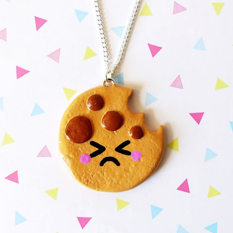 Cute Cookie Necklace - Sad