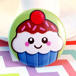 Cute Cupcake Fridge Magnet - Blueberry