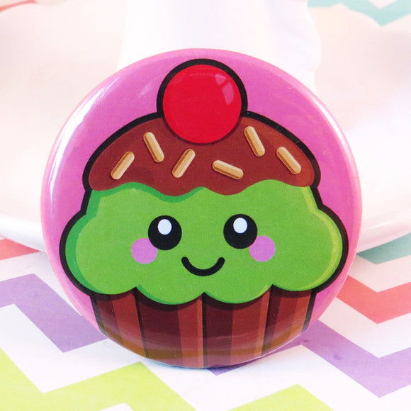 Cute Cupcake Fridge Magnet - Mint Choc Chip