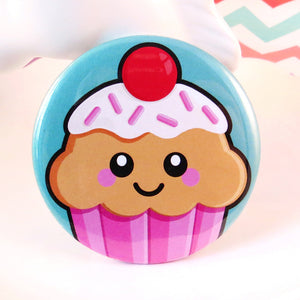 Cute Cupcake Fridge Magnet - Strawberry