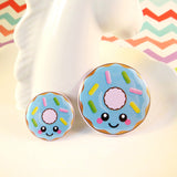 Delicious Donut Pin Badge - Blue