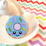 Delicious Donut Fridge Magnet - Blue