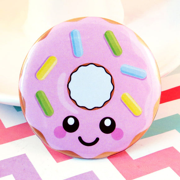 Delicious Donut Fridge Magnet - Pink