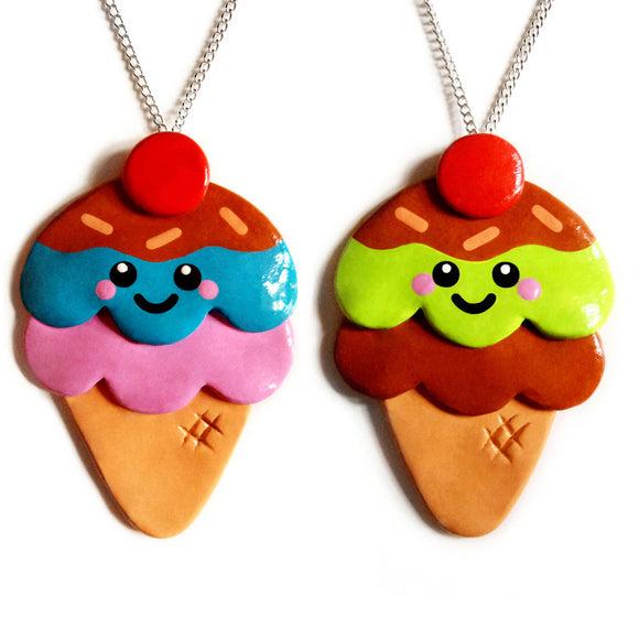 Double Scoop Ice Cream Necklace