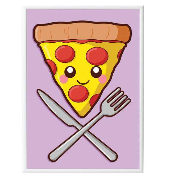 Home Slice Pizza A3 Print