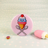 Ice Cream Pin Badge - Mint Choc Chip