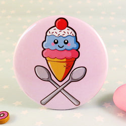 Ice Cream Fridge Magnet - Bubblegum