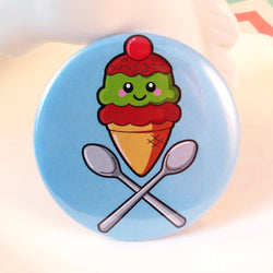 Ice Cream Pin Badge - Bubblegum