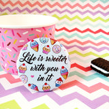 Life Is Sweeter With You In It Fridge Magnet