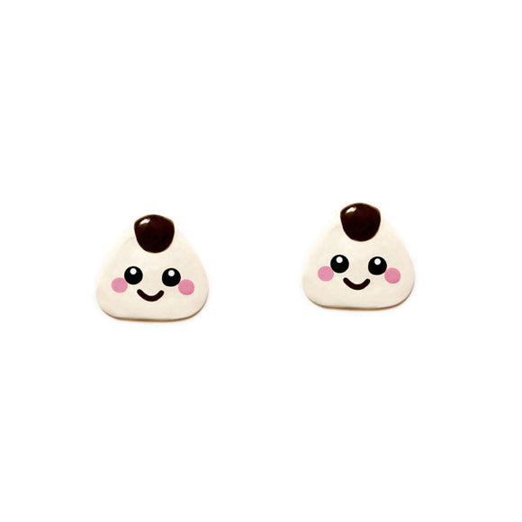 Onigiri Sushi Stud Earrings