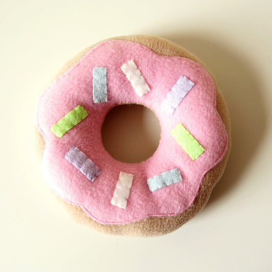 Limited Edition Donut Plush Cushion - Pink