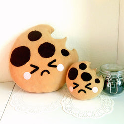 Cute Cookie Plush Cushion - Sad