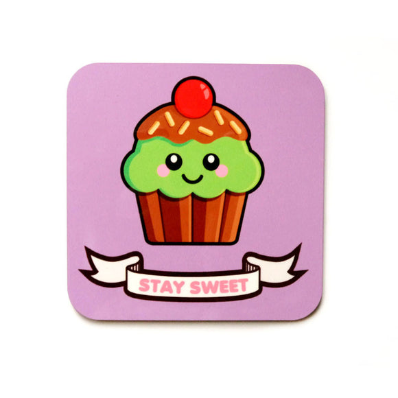 Cupcake Coaster - Mint Choc Chip