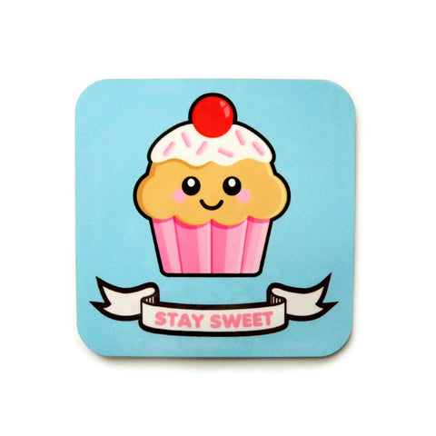 Cupcake Coaster - Strawberry