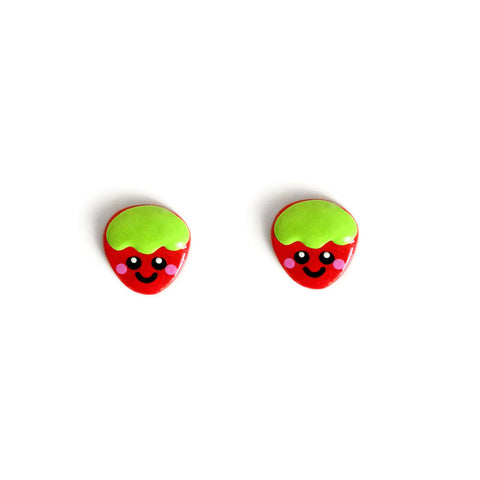 Sweet Strawberry Stud Earrings
