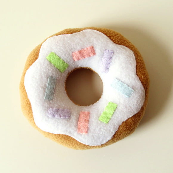 Limited Edition Donut Plush Cushion - White