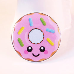 Delicious Donut Pin Badge - Pink