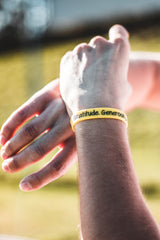 Yellow Smilinggg Wristband
