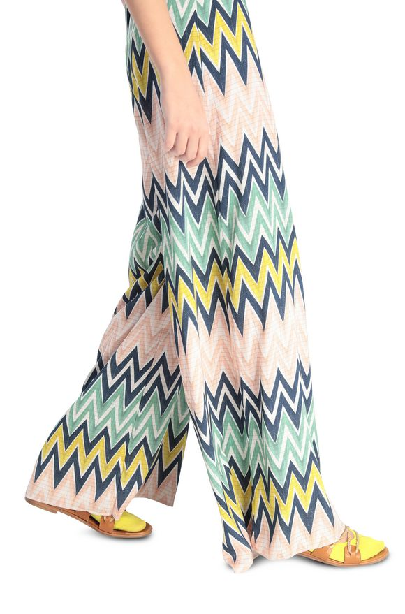 M Missoni Wide Leg Pant Multi Chevron