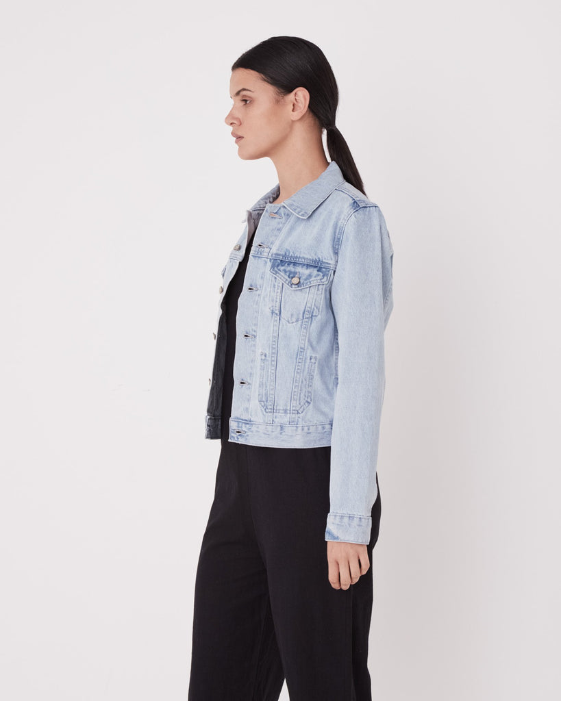 Assembly Label Femme Denim Jacket Pacific Blue