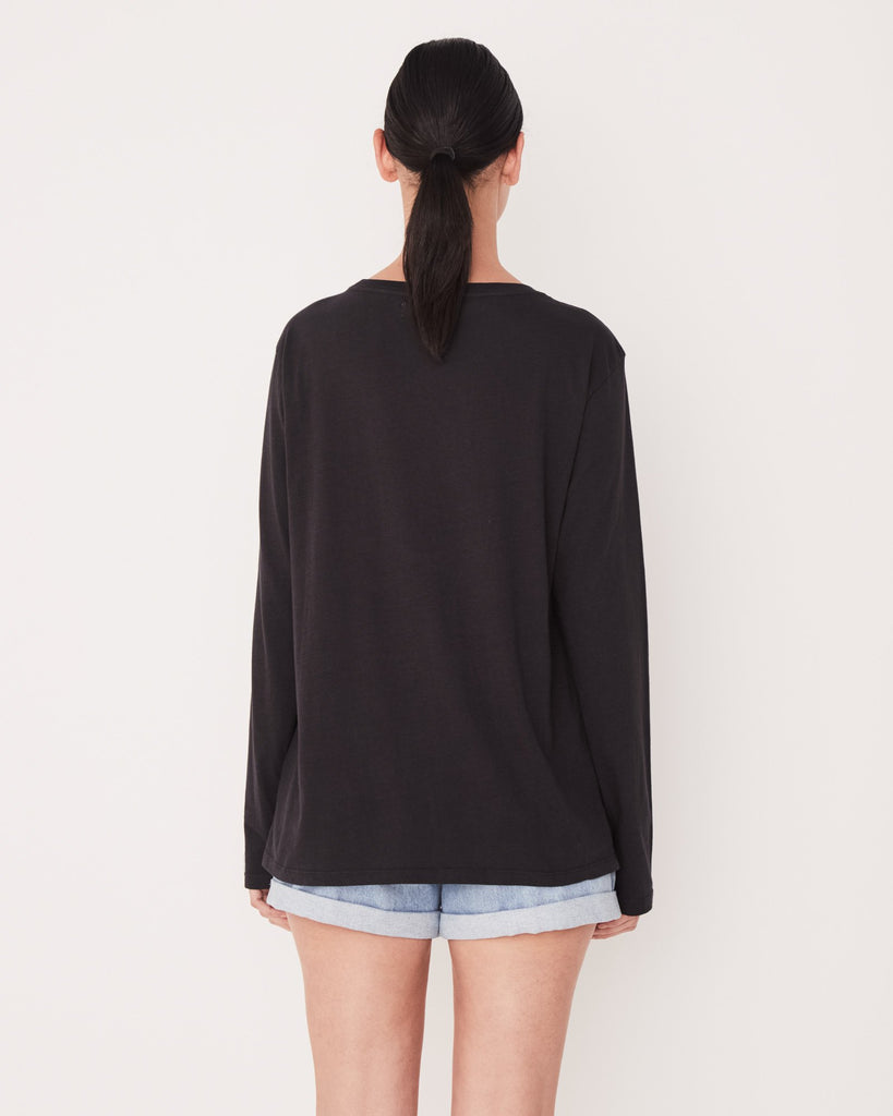 Assembly Label Pigment Dye Bay Long Sleeve Tee Black