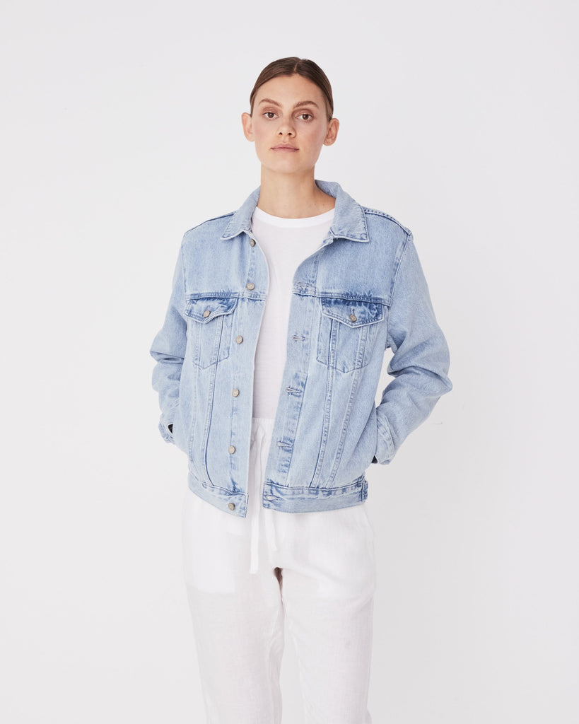 Assembly Label Maicy Denim Jacket Pacific Blue