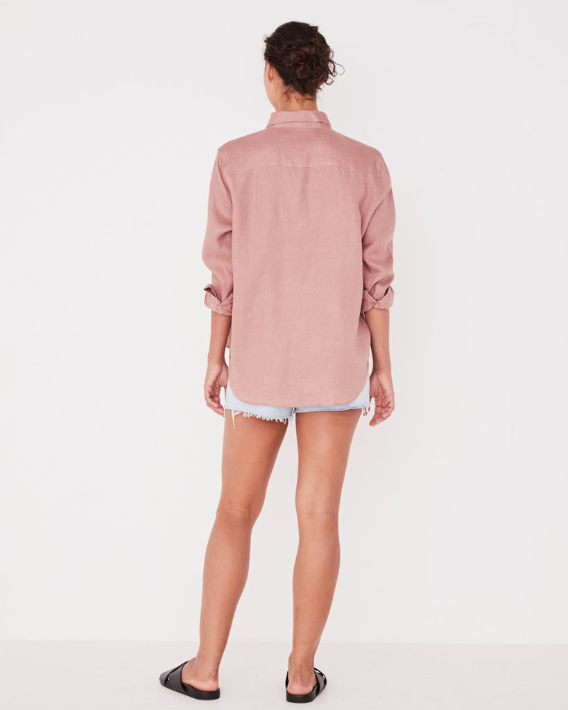Assembly Label Xander Long Sleeve Shirt Cameo Pink