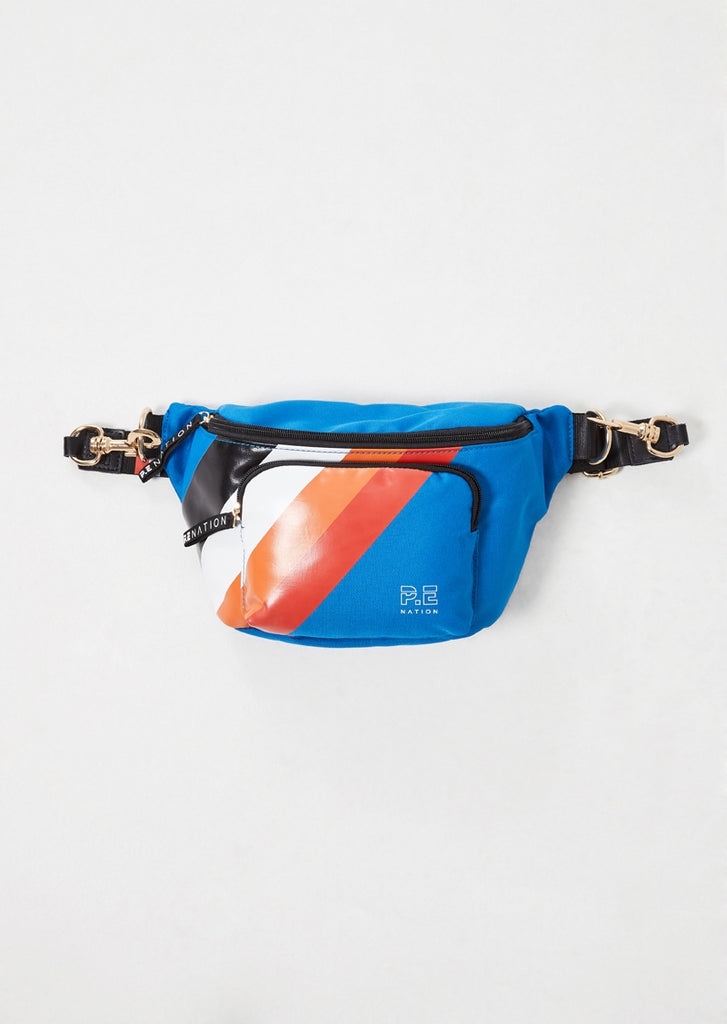 P.E Nation Kick Serve Bum Bag Blue