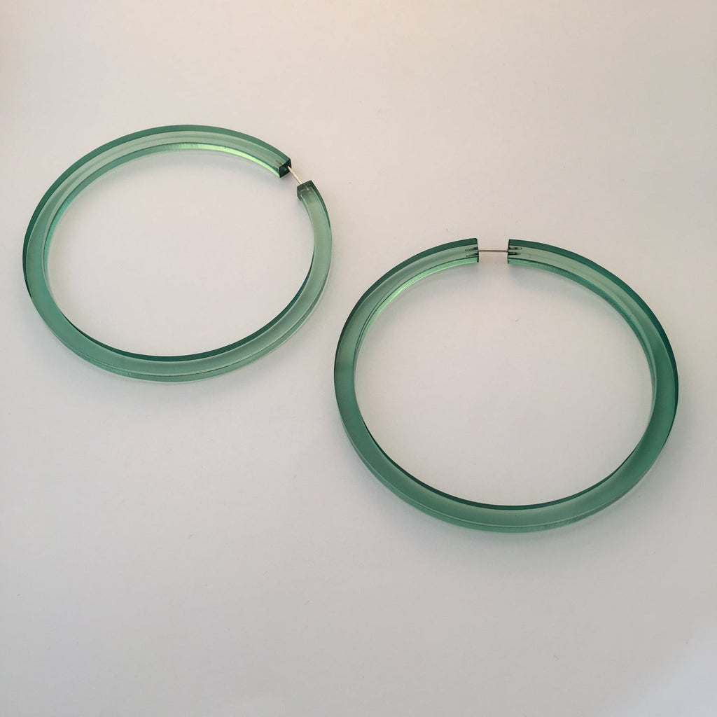 Alexandra Blak Halston Hoop Earrings Green